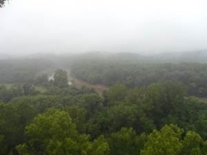 The view from the bluffs of the River Scene Trail at Castlewood State Park.
