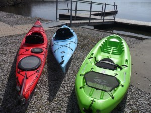 Why does one person need three kayaks? No arguments here, though...